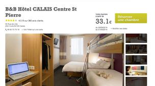 Hotel calais pas cher partir de 33 annuaire calais for Site hotel pas cher